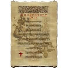 Клятва Гипократа на папирусе, багет
