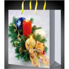Стильный пакет для новогодних подарков