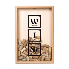 Копилка для винных пробок Элементы (цвет — бук)
