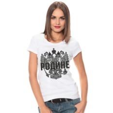 Женская футболка Сделано на Родине