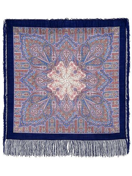 Павловопосадский платок с рисунком Созерцание