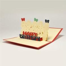 Объемная 3D открытка С днем рождения. Шары