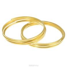 Проволока для браслета Астра, с памятью, цвет: золотистый, 1,2 мм х 0,5 мм, 2 шт.