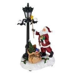 Новогоднее светящееся украшение Дед Мороз с подарками