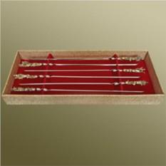 Набор шампуров в подарочной коробке «На охоте»