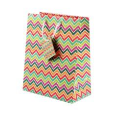Разноцветный бумажный подарочный пакет