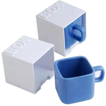 Керамическая кружка Куб, синяя