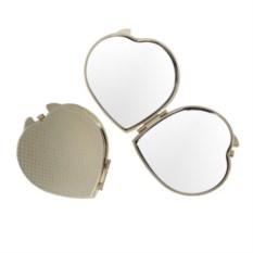 Зеркало Сердце (цвет: золотистый)