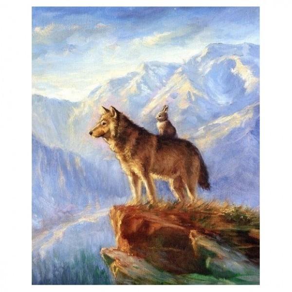 Картина-раскраска по номерам Волк и Изабелла