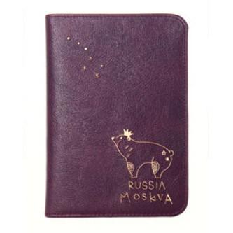 Обложка для паспорта Moskva Russia