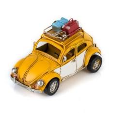 Ретро-модель Желтый автомобиль с фоторамкой