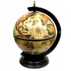 Светлый настольный глобус-бар (диаметр сферы 33 см)
