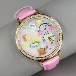 Розовые часы «Миниатюра»