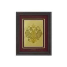 Картина с гербом РФ на красном фоне