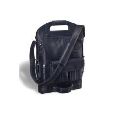 Универсальная кожаная сумка Brialdi Flint (цвет — синий)