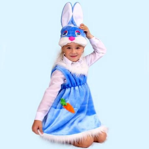 Карнавальный костюм Зайка (головной убор, сарафан)