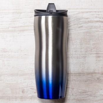 Серебристо-синяя термокружка Порт Дю Солей
