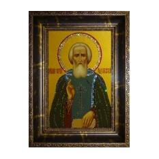 Хрустальная картина Swarovski Икона Сергий Радонежский