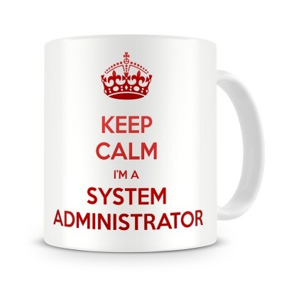 Кружка Keep calm I am system administrator
