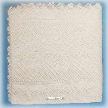 Оренбургский белый пуховый платок