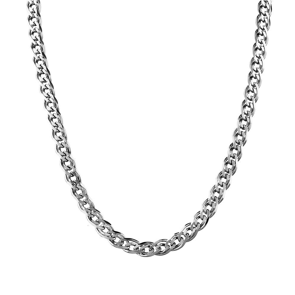 Мужская цепь из серебра плетения Нонна с алмазными гранями