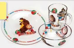 Набор посуды Маша и Медведь. Спорт из 3-х предметов