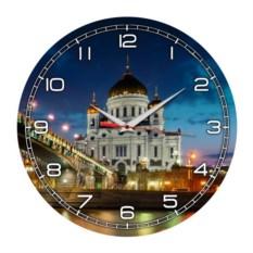 Круглые настенные часы Москва. Храм Христа Спасителя