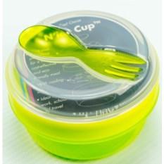 Зеленый ланч-бокс с охлаждающим элементом N'ice Cup