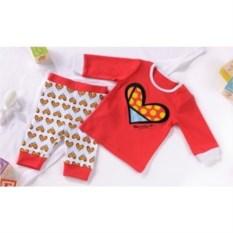 Красная детская пижама Britto Heart