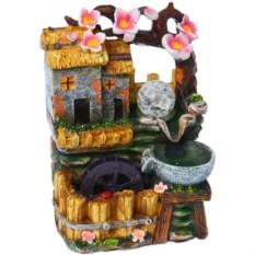 Настольный декоративный фонтан с подсветкой Под сакурой
