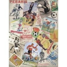 Рисовая бумага для декупажа Craft Premier Советский футбол