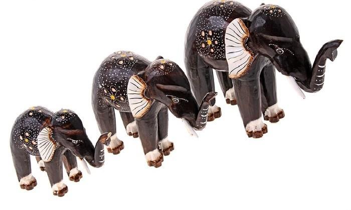 Набор статуэток Слоны с помпоном