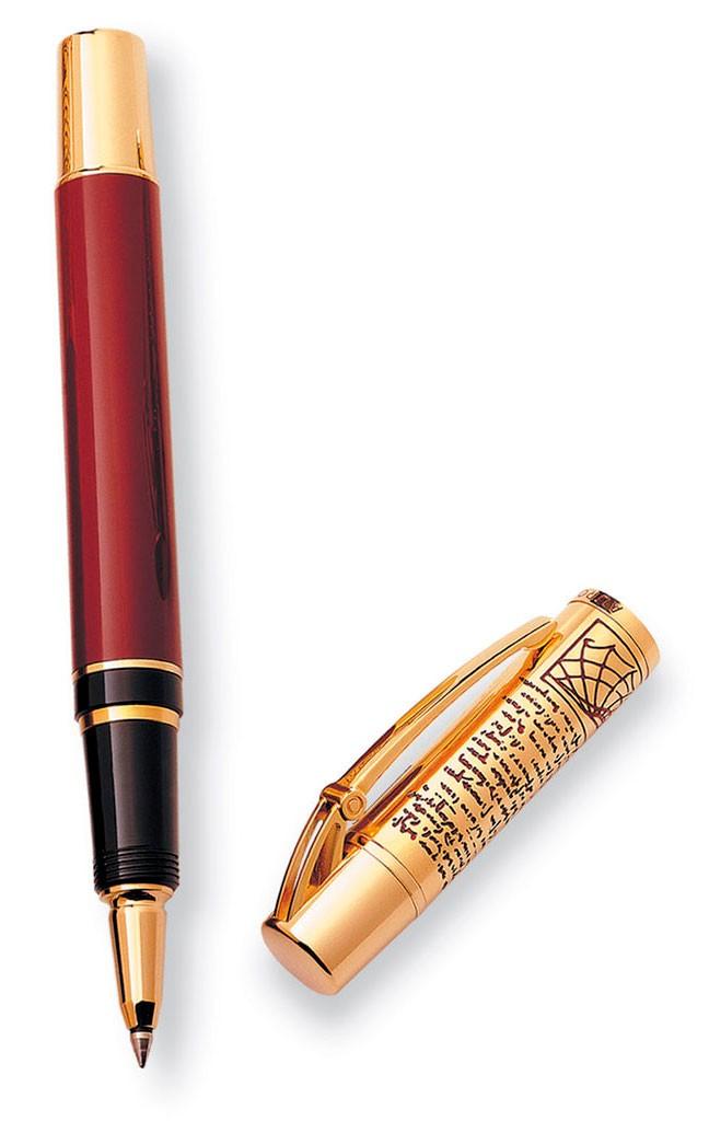 Ручка-роллер смола бордо, позолота Aurora Leonardo da Vinci