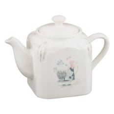 Квадратный керамический заварочный чайник