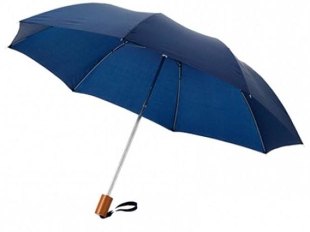 Синий двухсекционный зонт
