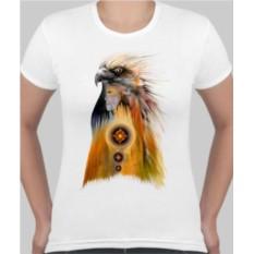 Женская футболка Орел, индеец