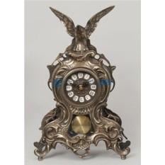 Часы из бронзы Орёл 38х25 см, цвет светло-каштановый