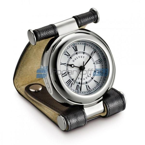Часы путешественника в кожаном чехле caviar