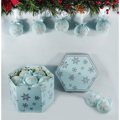 Набор шаров фрости снежинки