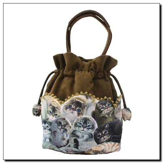 Стильная авторская сумка женская «Кошки Генри» кор