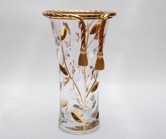 Хрустальная ваза для цветов Золотые Кисти