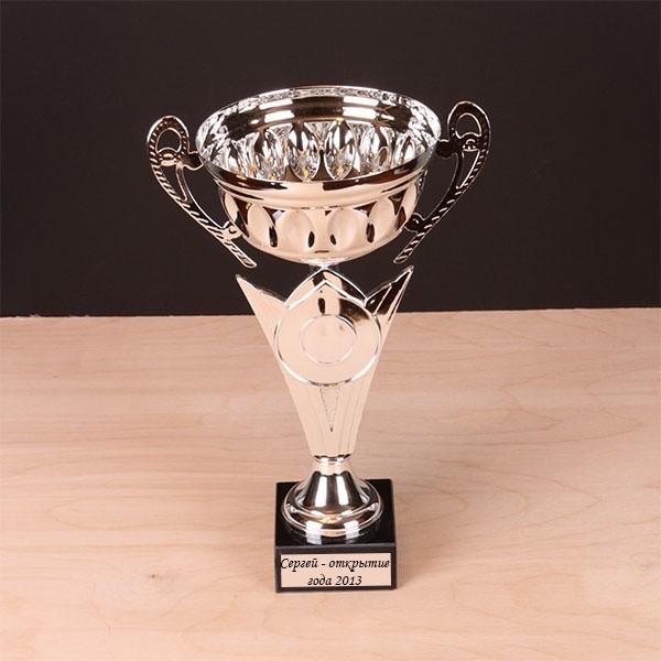 Наградной кубок с именной гравировкой, серебряный