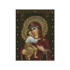 Вышивка стразами «Феодоровская икона Божией Матери»