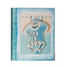 Фотоальбом детский для мальчика Голубое Боди