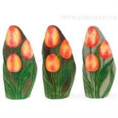 Декоративное садовое изделие Цветы на камне. Тюльпаны
