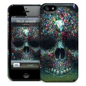 Чехол для iPhone 5 Gelaskins Skull jewels