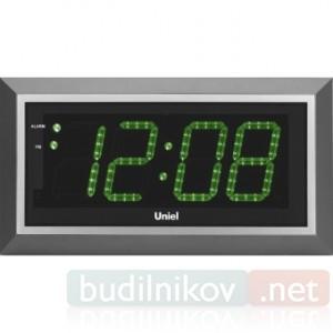 Часы настенные электронные Uniel UTL-11G, зеленые