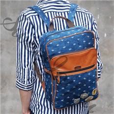 Джинсовый рюкзак Western Badge - Holes Deep Blue