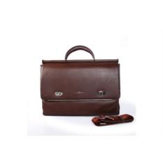 Коричневый кожаный портфель David Jones Dor. Flinger