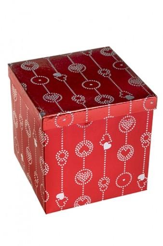 Коробка подарочная Гирлянда из сердец 20.3*20.3*20.3см